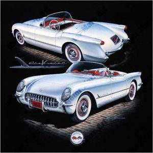 Corvette Artwork by Marc Lacourciere
