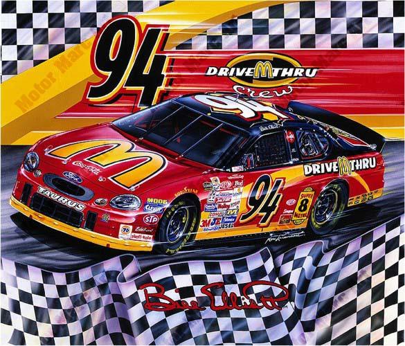 NASCAR Artwork - #94 by Marc Lacourciere