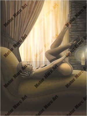 Boudoir Artwork - Awaiting Romance by Marc Lacourciere
