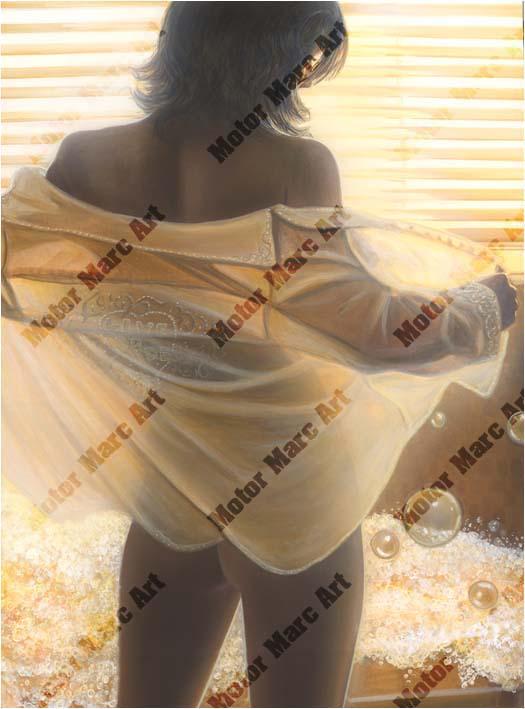 Boudoir Artwork - Bubblegirl Romance by Marc Lacourciere