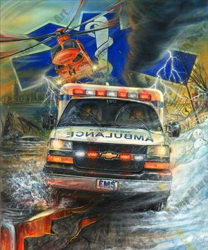 Ambulance Artwork by MarcLacourciere
