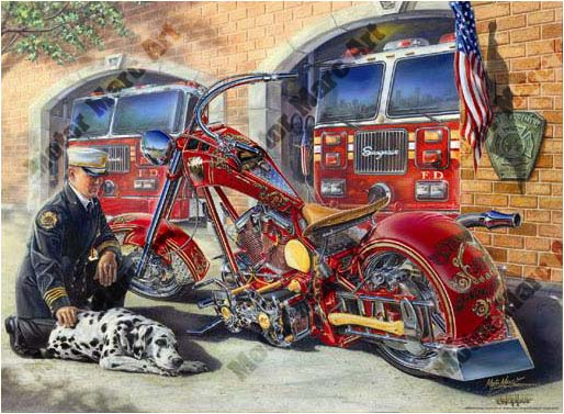 Motorcycle Paintings by Marc Lacourciere