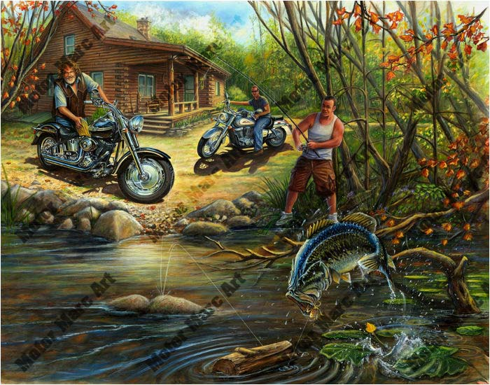 Motorcycle Artwork - Open Road Edition by Marc Lacourciere