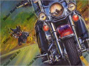 Motorcycle Paintings Open Road Edition by Marc Lacourciere