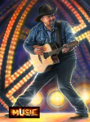 Garth Brooks Artwork - Portrait by Marc Lacourciere