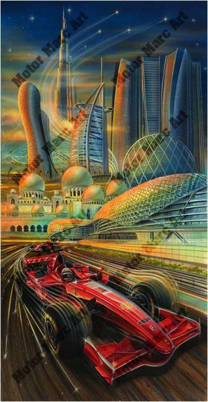 Formula 1 Artwork by Marc Lacourciere