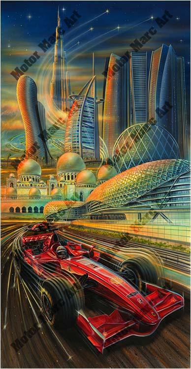 Formula 1 Artwork by Marc Lacourciere