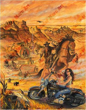 Motorcycle Paintings - Sturgis Series by Marc Lacourciere
