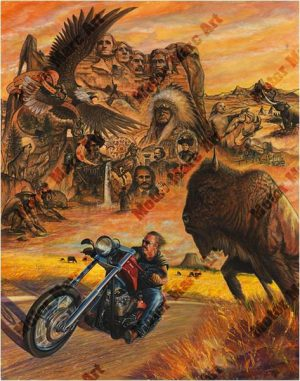 Motorcycle Artwork - Sturgis Series by Marc Lacourciere