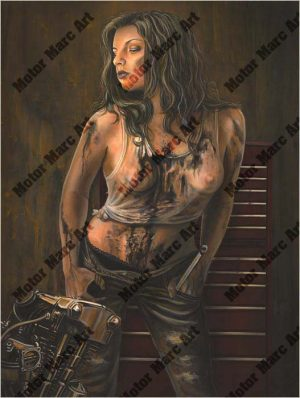 Motorcycle Artwork - Boudoir Series by Marc Lacourciere