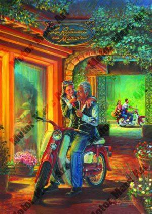 Motorcycle Artwork - Open Road Edition by Marc Lacourciere