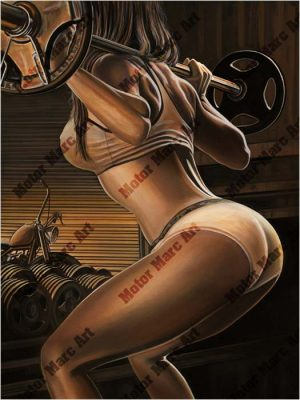 Boudoir Artwork - Pumping Iron by Marc Lacourciere