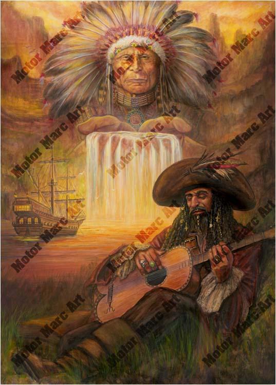 Nautical Artwork - Spiritual Harmony - by Marc Lacourciere