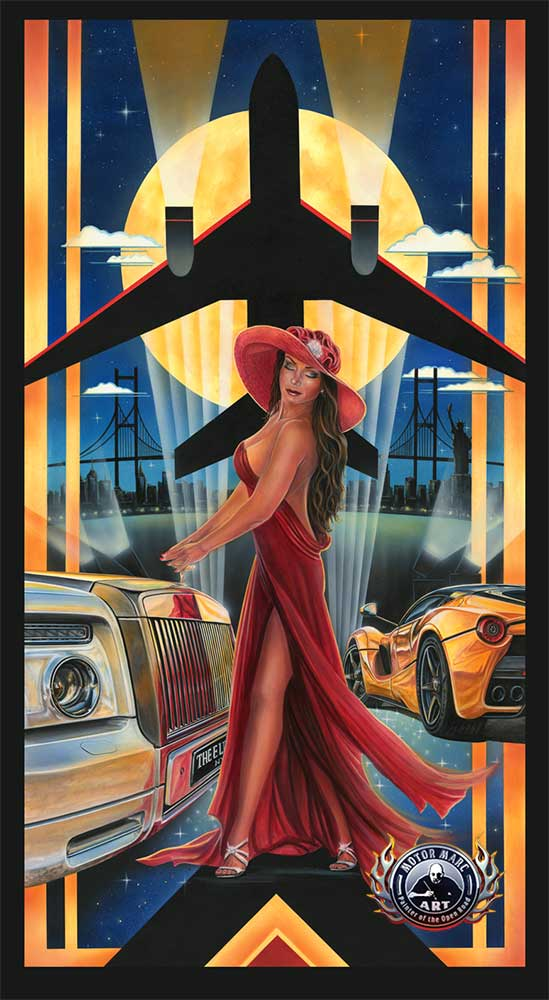Exotic Car Artwork - The Elite by Marc Lacourciere