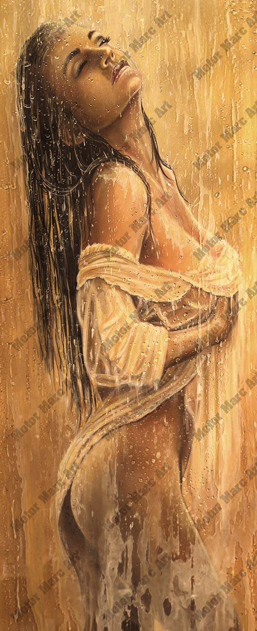 Boudoir Artwork - Wet Beauty by Marc Lacourciere