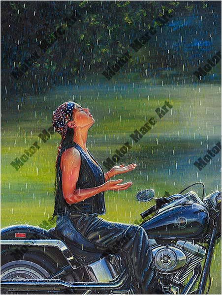 Motorcycle Artwork -Open Road Edition by Marc Lacourciere