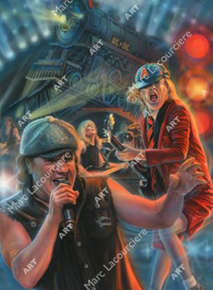 AC/DC Artwork - Portrait by Marc Lacourciere