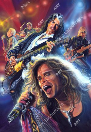 Aerosmith Artwork - Portrait by Marc Lacourciere