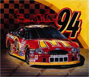NASCAR Artwork - Bill Elliot by Marc Lacourciere
