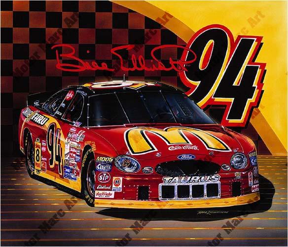 NASCAR Artwork - Bill Elliot by Marc Lacourciere