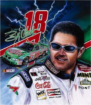 NASCAR Artwork - Bobby Labonte by Marc Lacourciere