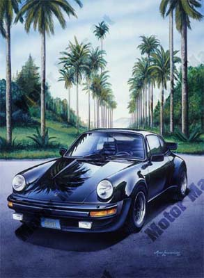 Porsche Artwork by Mark Lacourciere
