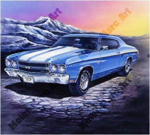 Muscle Car Artwork by Marc Lacourciere