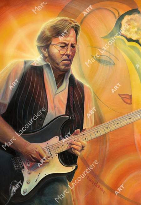 Eric Clapton Artwork - Portrait by Marc Lacourciere