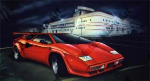 Lamborghini Artwork by Marc Lacourciere