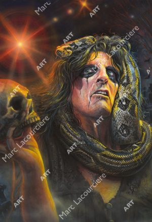 Alice Cooper Artwork - Portrait by Marc Lacourciere