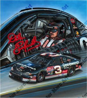 NASCAR Artwork - Dale Earnhardt by Marc Lacourciere