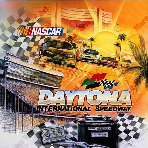 NASCAR Artwork - Daytona by Marc Lacourciere