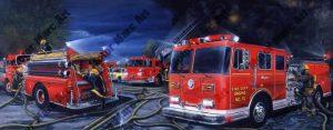 Fire Truck Artwork by Marc Lacourciere