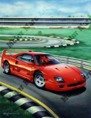 Ferrari Artwork by Marc Lacourciere