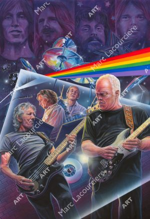 Pink Floyd Artwork - Portrait by Marc Lacourciere