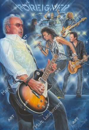 Foreigner Artwork - Portrait by Marc Lacourciere