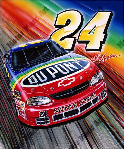 NASCAR Artwork - Jeff Gordon by Marc Lacourciere