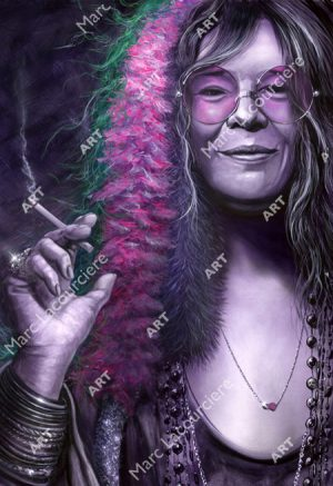 Janis Joplin Artwork - Portrait by Marc Lacourciere