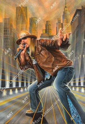 Kid Rock Artwork - Portrait by Marc Lacourciere