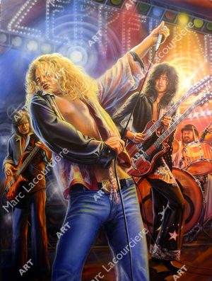Led Zeppelin Artwork - Portrait by Marc Lacourciere