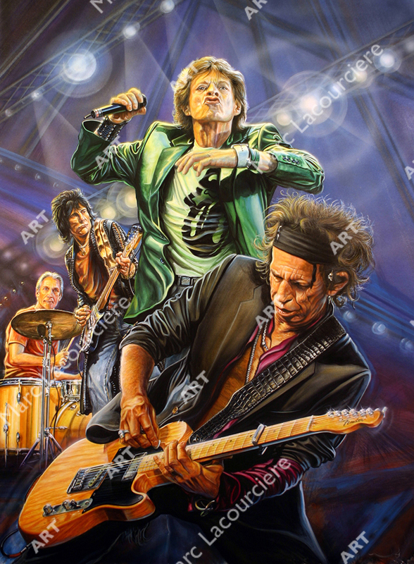 Rolling Stones Artwork - Portrait by Marc Lacourciere