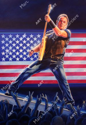 Bruce Springsteen Artwork - Portrait by Marc Lacourciere