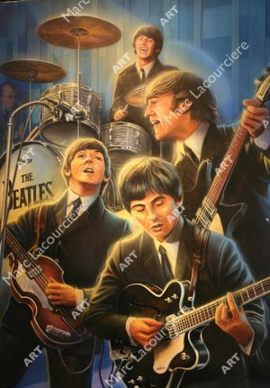 Beatles Artwork - Portrait by Marc Lacourciere