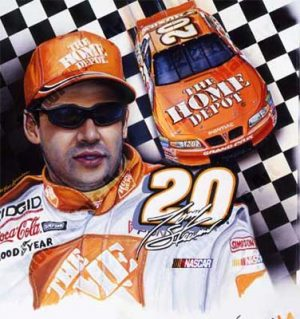 NASCAR Artwork - Tony Stewart by Marc Lacourciere