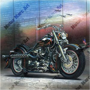 Motorcycle Artwork - Vietnam Series by Marc Lacourciere