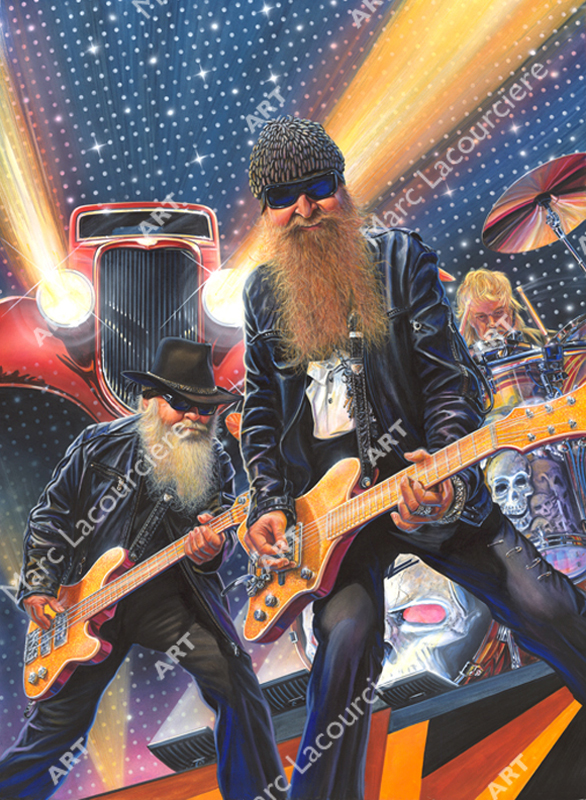ZZ Top Artwork - Portrait by Marc Lacourciere