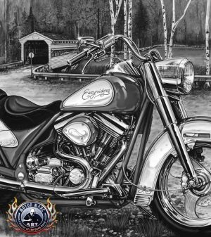 Motorcycle Paintings - Easy Rider Edition by Marc Lacourciere