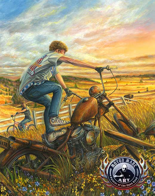 Motorcyle Paintings - Sturgis Series by Marc Lacourciere