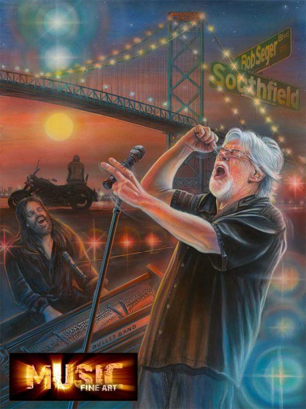 Bob Seger Artwork - Portrait by Marc Lacourciere