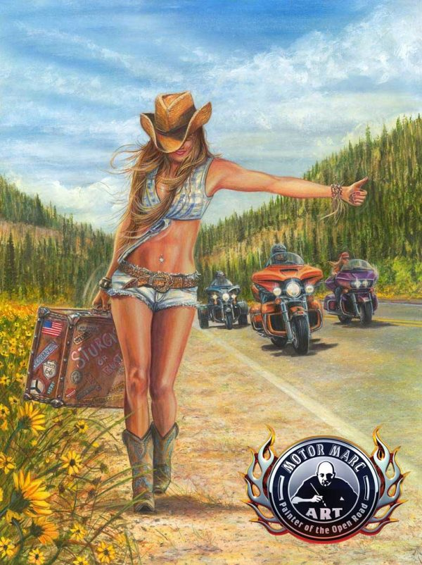 Motorcycle Artwork - Sturgis Collection by Marc Lacourciere